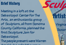 Sculpture Jam Sebastopol Sonoma County, Calif. History and Teams